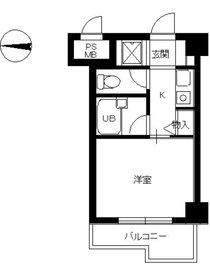 スカイコート文京小石川7階Fの間取り画像