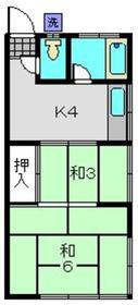 菊名駅 徒歩18分2階Fの間取り画像