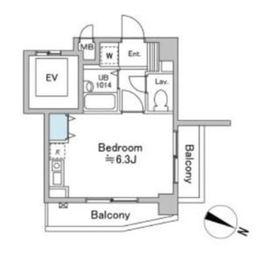 サウスウィン5階Fの間取り画像