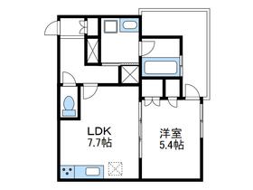 リビオタワー小田急相模原レジデンス16階Fの間取り画像