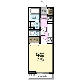 テラ・ソラーレ1階Fの間取り画像