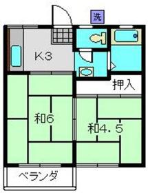パナハイツミネ2階Fの間取り画像