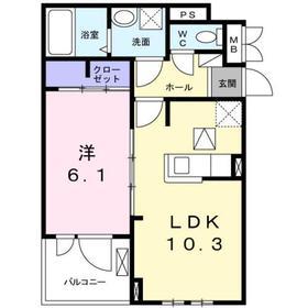 セレジェイラ1階Fの間取り画像