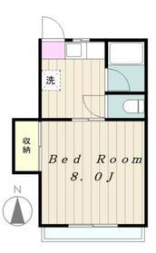 二本松・信栄ハウス2階Fの間取り画像
