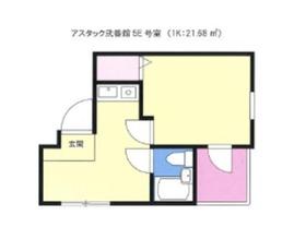 アスタック弐番館5階Fの間取り画像