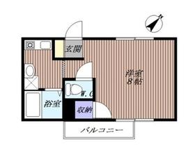 マンションみふねNo.121階Fの間取り画像