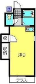 佐藤ハイツ1階Fの間取り画像