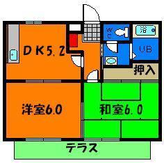 広々2DK☆荷物の多い単身の方にもお勧めですね!
