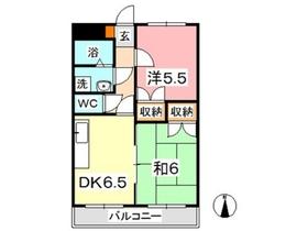 ヴィレッジロイヤルセブン2階Fの間取り画像