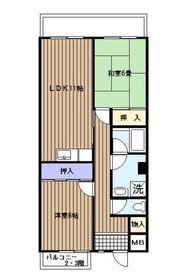 ウエストキャナル3階Fの間取り画像