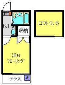 メイゾン二俣川1階Fの間取り画像