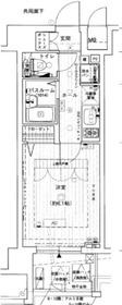 エステムプラザ横濱みなとみらいWEST4階Fの間取り画像