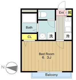 カーサデリーヴァ2階Fの間取り画像