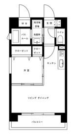 潮見新築マンション6階Fの間取り画像