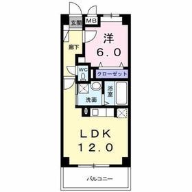西八王子駅 徒歩25分2階Fの間取り画像