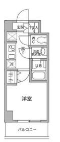パークフラッツ横濱平沼橋3階Fの間取り画像