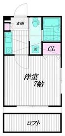 妙蓮寺駅 徒歩7分2階Fの間取り画像