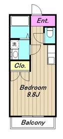 ハートハウス2階Fの間取り画像