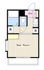 ドーヤマハイツ1階Fの間取り画像