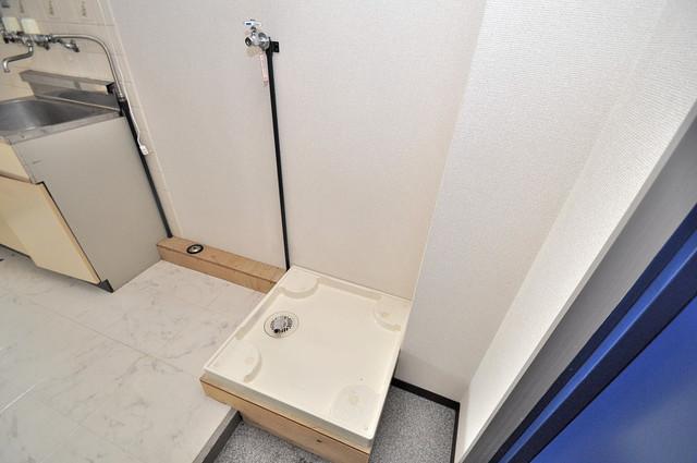 新深江ツリガミビルパートⅠ 室内に洗濯機置き場があれば雨の日でも安心ですね。