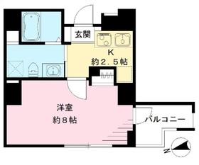 クラヴィーア仙川2階Fの間取り画像