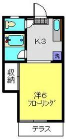 カーサ・アパライズ1階Fの間取り画像