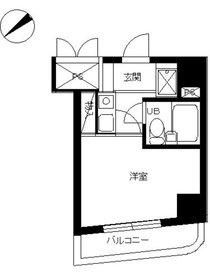 スカイコート川崎83階Fの間取り画像