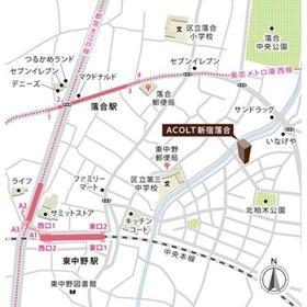 ACOLT新宿落合案内図