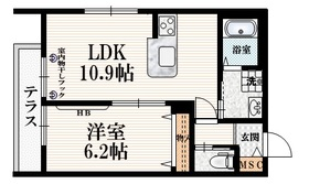 東高円寺駅 徒歩6分1階Fの間取り画像