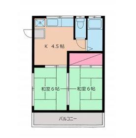 橋本ハウス2階Fの間取り画像