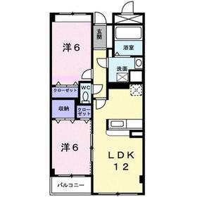 シャンクレール清瀬3階Fの間取り画像