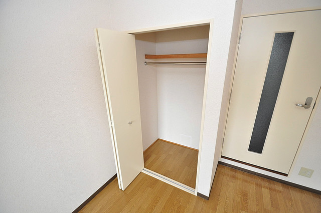 リバーサイド金岡Ⅱ番館 もちろん収納スペースも確保。おかげでお部屋の中がスッキリ。