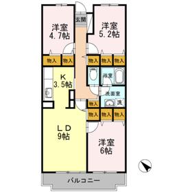 ハイドランジア5階Fの間取り画像