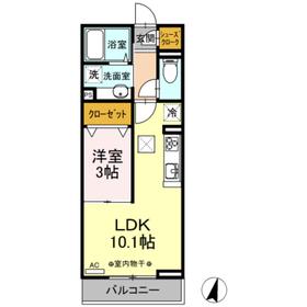 和光市駅 徒歩4分2階Fの間取り画像