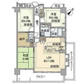 藤和シティホームズ落合南長崎4階Fの間取り画像