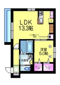仮称 江戸川1丁目メゾン1階Fの間取り画像