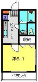 リリックコートYOKOHAMA Ⅰ1階Fの間取り画像