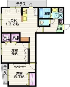 仮称)山王1丁目メゾン1階Fの間取り画像