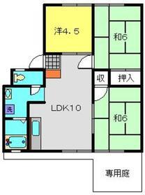 今宿モールサイドⅢ1階Fの間取り画像