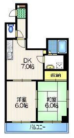 MAISON SHINO2階Fの間取り画像