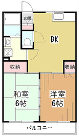 KS中央マンション3階Fの間取り画像