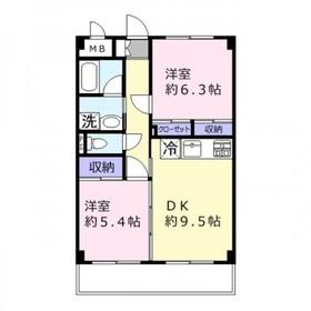 サンタローゼ2階Fの間取り画像