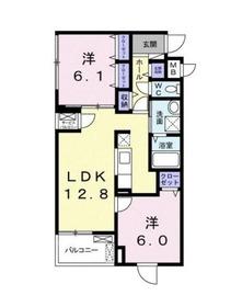 ラシーヌ菊名11階Fの間取り画像