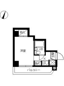 スカイコート川崎55階Fの間取り画像
