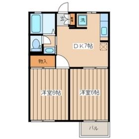 グレイスハイツ2階Fの間取り画像