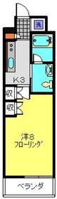 イーリス浅間町6階Fの間取り画像