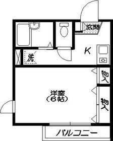 メゾンHIRO2階Fの間取り画像