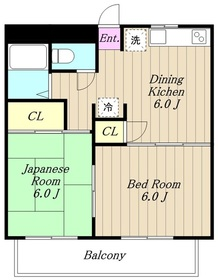 プリムローズ(古淵)3階Fの間取り画像
