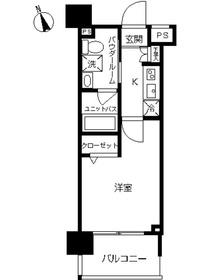 スカイコート川崎西口22階Fの間取り画像