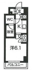 スパシエグランス早稲田5階Fの間取り画像